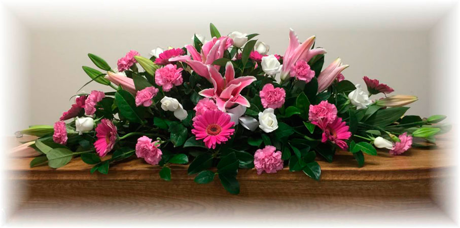Pink Funeral Casket Flowers Lincoln Family Funerals