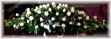 Double ended White Rose Casket Spray