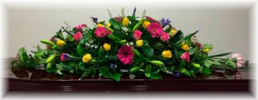 Mixed Seasonal Double Ended Funeral Casket Spray