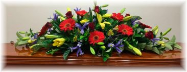 Mixed Seasonal Double Ended Casket Spray