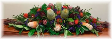 Australian Native Funeral Floral Arrangement
