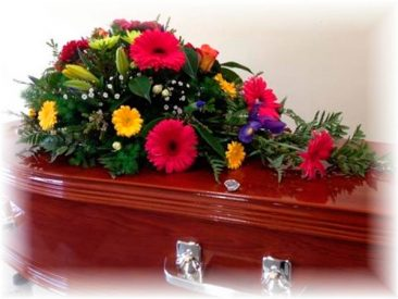 Mixed Seasonal Funeral Floral Arrangement