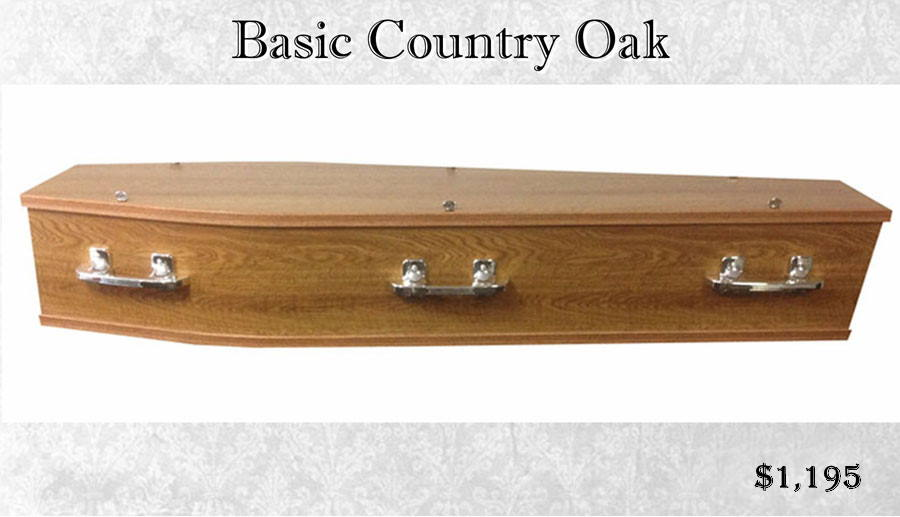 Basic Eaton Country Oak Coffin