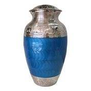 Blue and Silver Urn, Adult $350