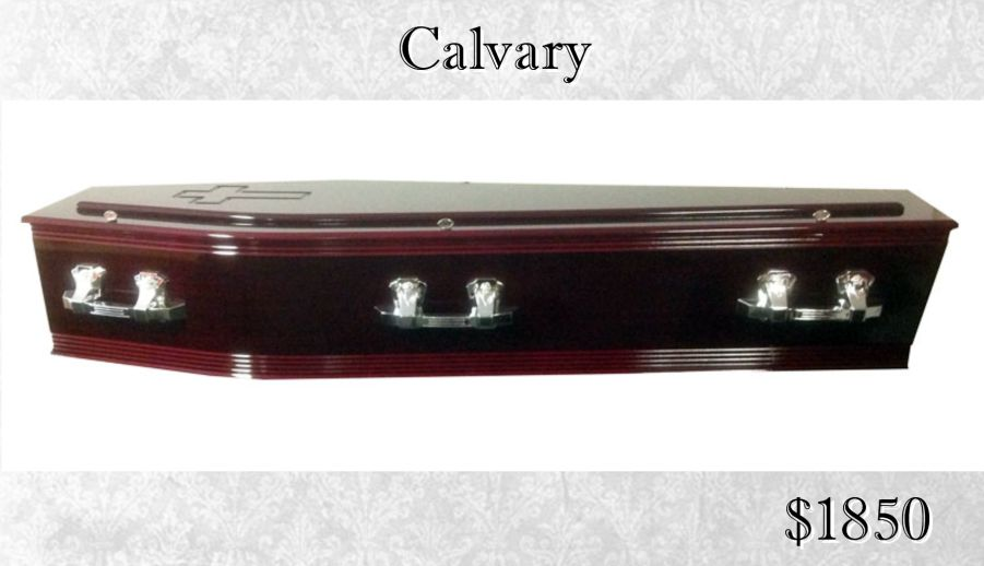 Calvary Coffin Rosewood Cross Religious Funeral