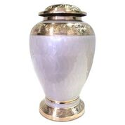 Embassy White and Gold Urn Adult $350