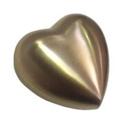 Brushed Brass Heart Keepsake Urn $120