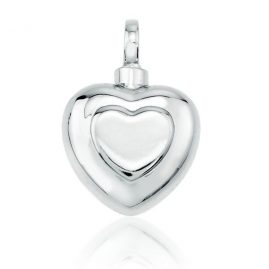 Lifecycle Pendant Double Heart Silver $160