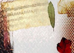 Funeral Songs here with Music notes with rose