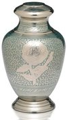 Teal Rose Adult Urn $350.