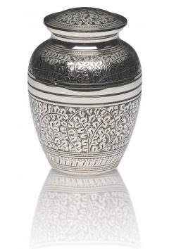 Silver Acorn Leaf Adult Urn $350, Medium $200, Keepsake $120