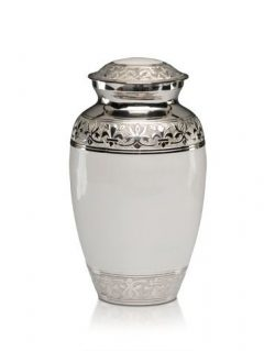 Elegant White Urn, Medium $200