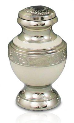Elegant White Keepsake Urn $120