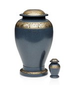 Embassy Blue and Grey Urn, Adult $350
